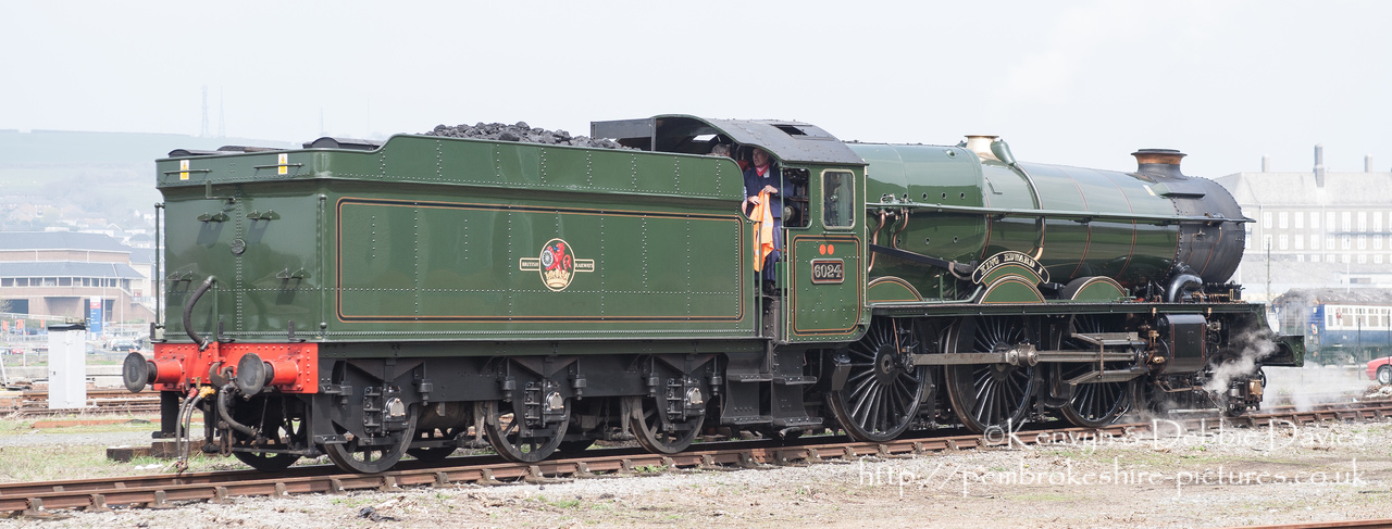"6024 ""King Edward I"" King class locomotive. Built in 1930 at the Swindon Works for Great Western Railways."