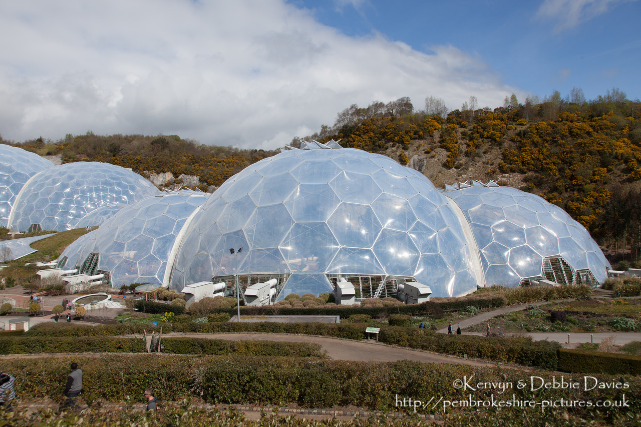 Completed in 2001, The Eden Project is a visitor attraction in Cornwall consisting of biomes containing plant from the Mediterranean ad Tropics.
