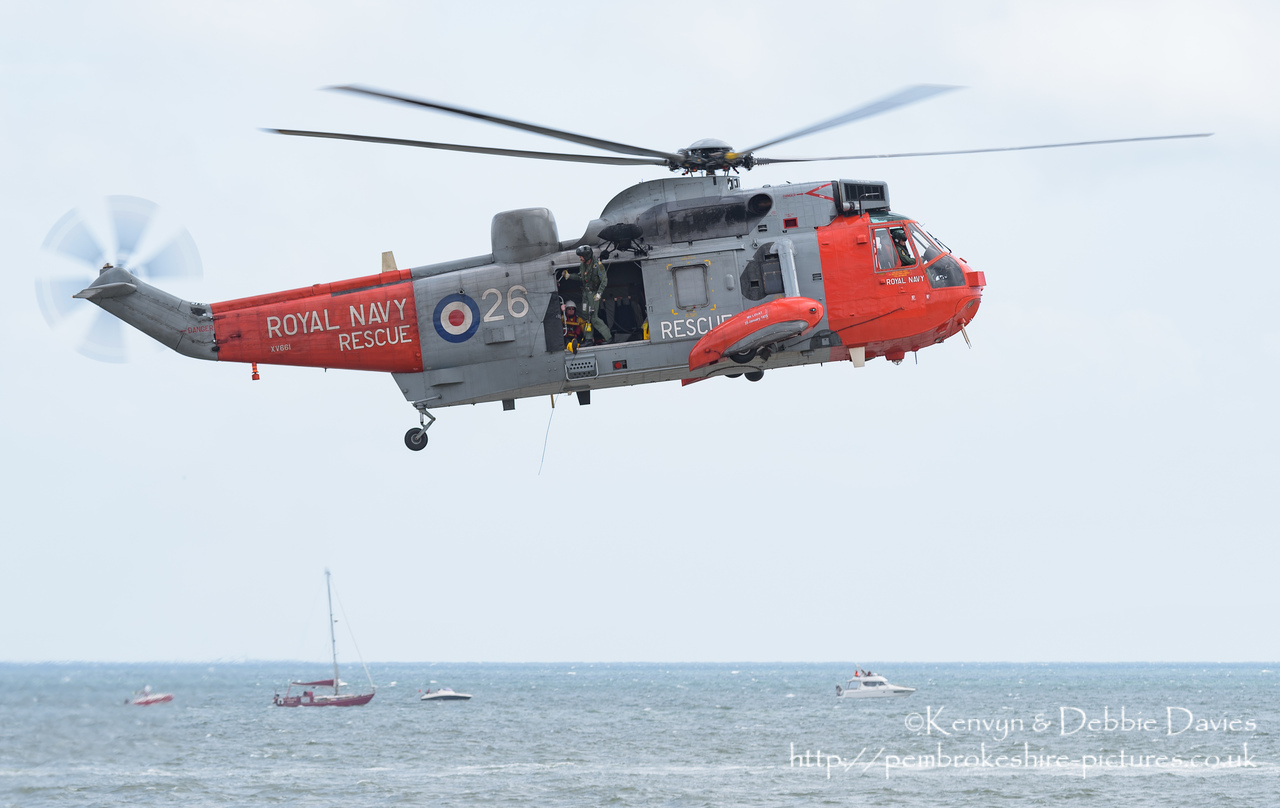 Image of westland sea king has1 xv661 at wales national for Air show 2015
