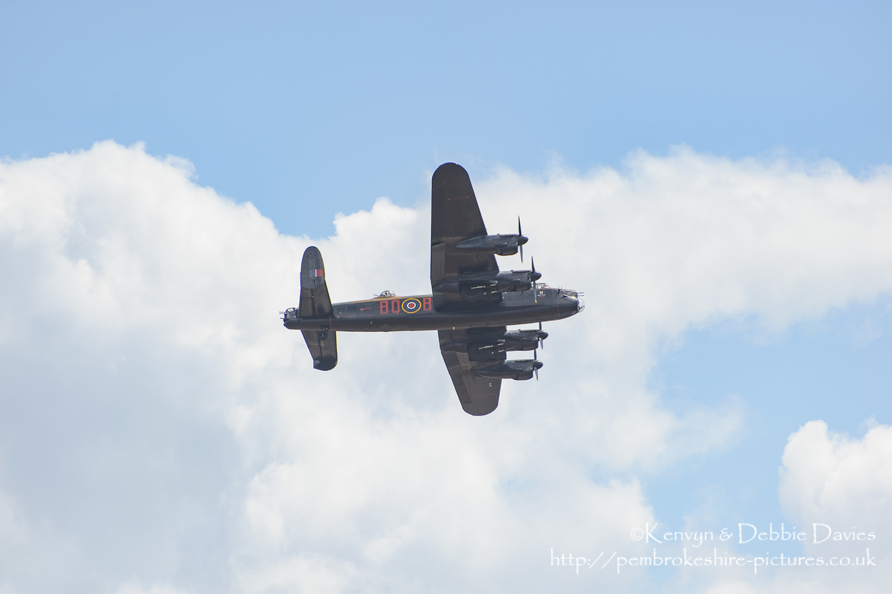 The Wales National Air Show held in Swansea Bay on the 11th and 12th July 2009. This is the Avro Lancaster B1 (PA474/HWR).