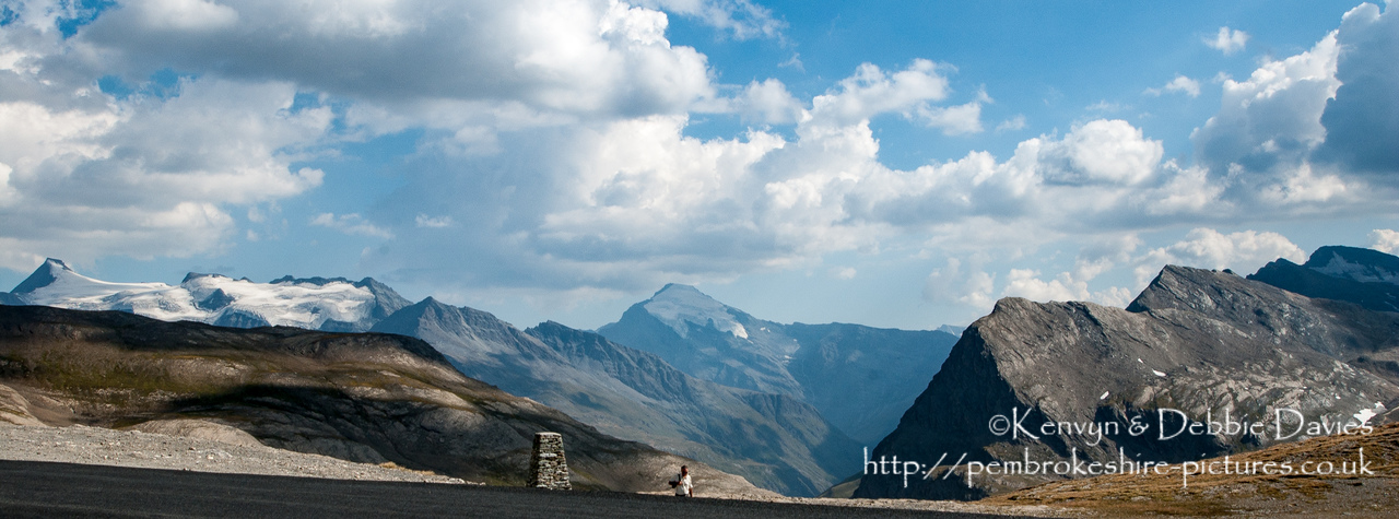 Col de l'iseran is the highest paved mountain pass in the Alps. Taken in 2003 with a Nikon D1X
