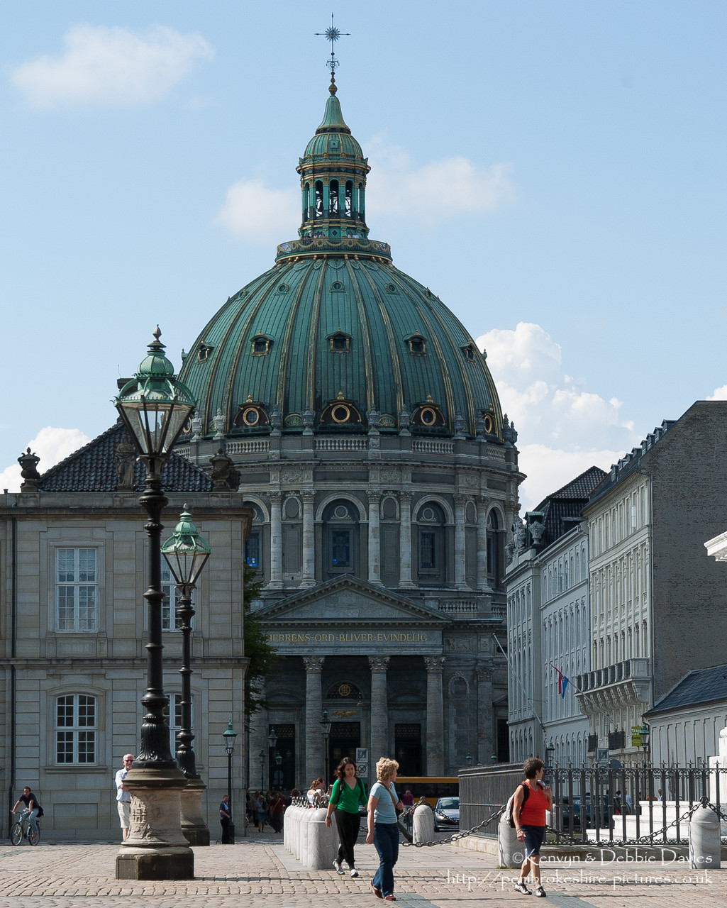 Frederik's Church (Danish: Frederiks Kirke), popularly known as The Marble Church (Marmorkirken) for its architecture, is an Evangelical Lutheran church in Copenhagen, Denmark. It is located just west of Amalienborg Palace.