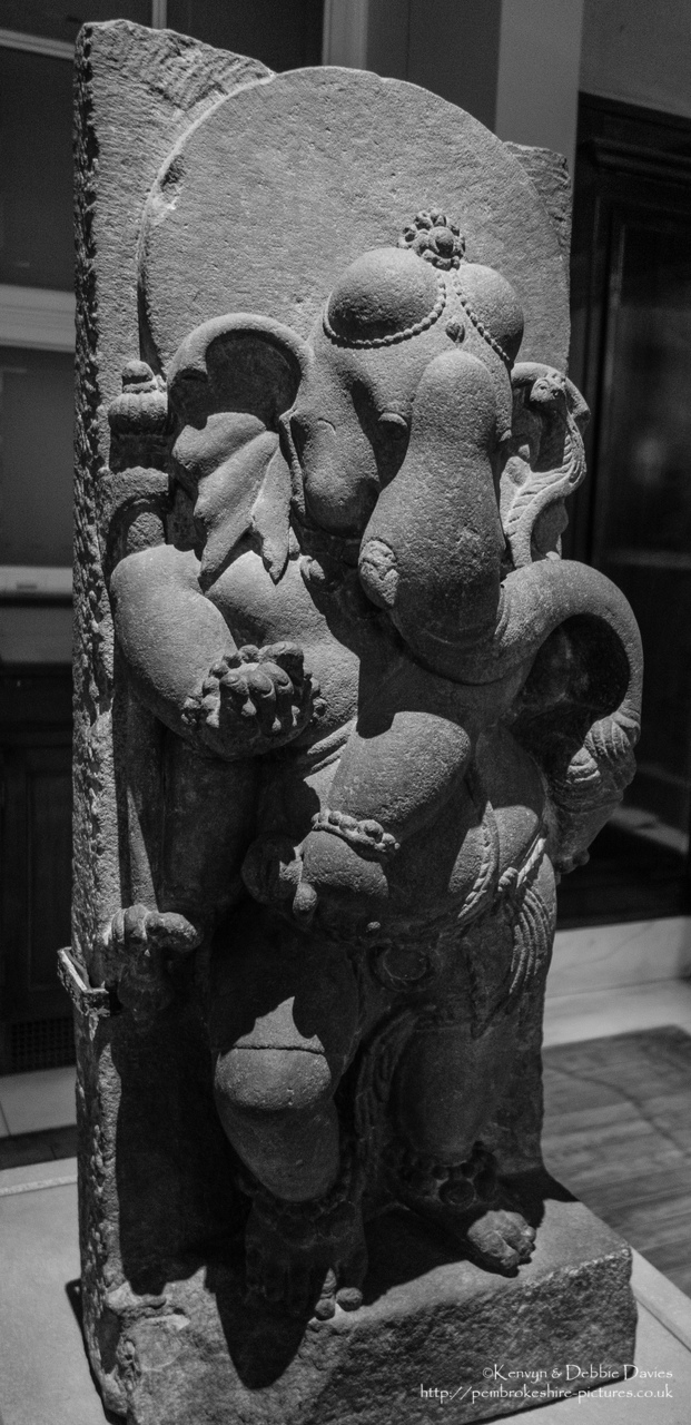Dancing Ganesha, probably southeast Uttar Pradesh, north India, about 750 CE.