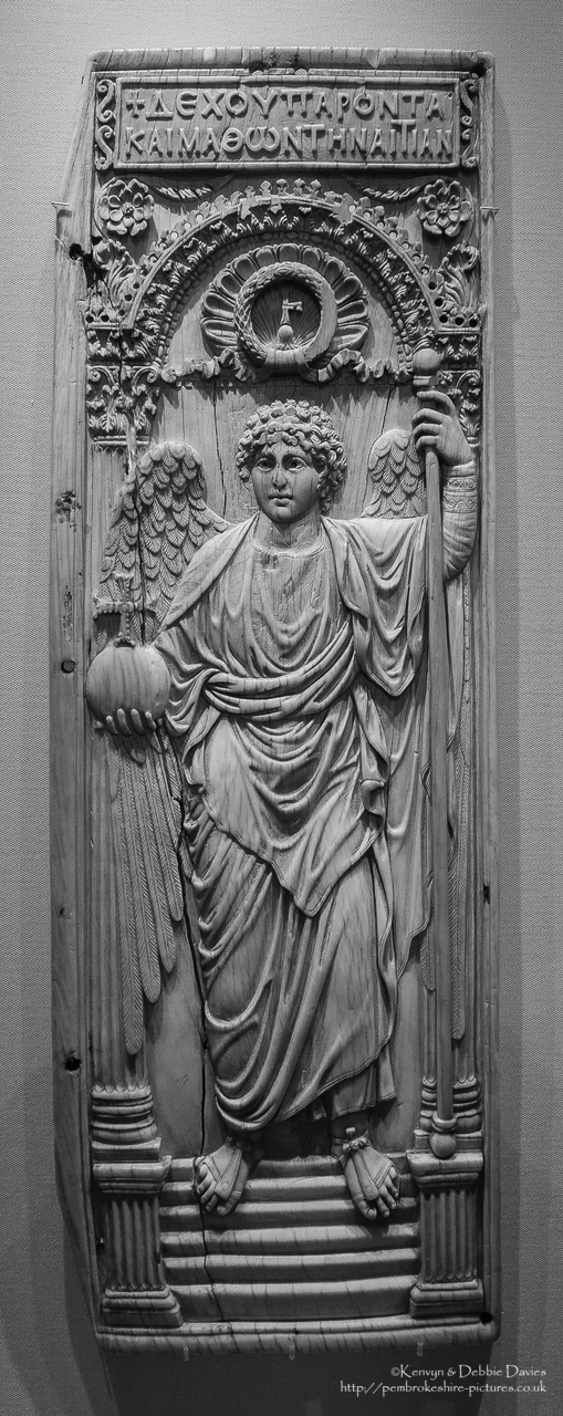This exhibit is the largest single piece of ivory to have survived from  Byzantium and almost certainly represents an imperial commission originating from Constantinople.