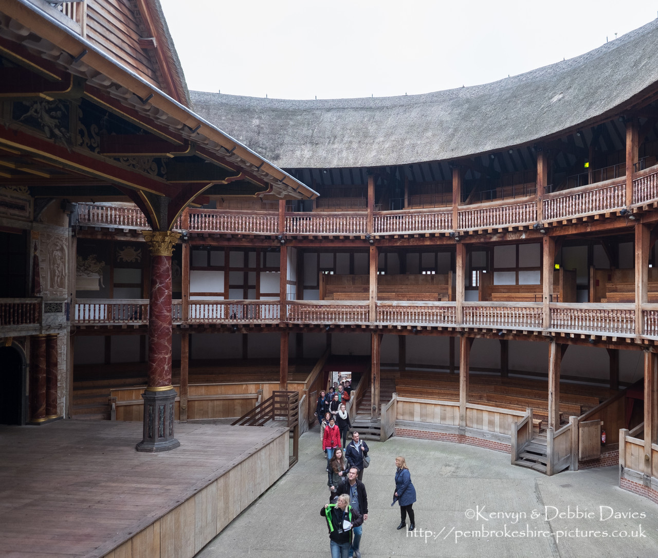 Opened in 1997, Shakespeare's Globe is a reconstruction of the original Glove Theatre built in 1599.