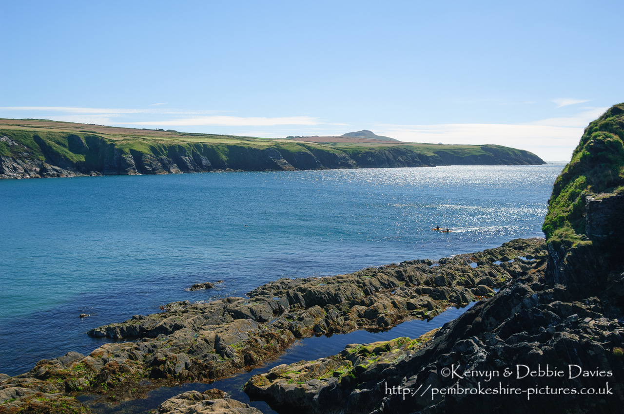 Abereiddy (Abereiddi in Welsh) is a small Hamlet in North Pembrokeshire that contains the ruins of a small slate quarry. The Pembrokeshire Coast Path runs through it.