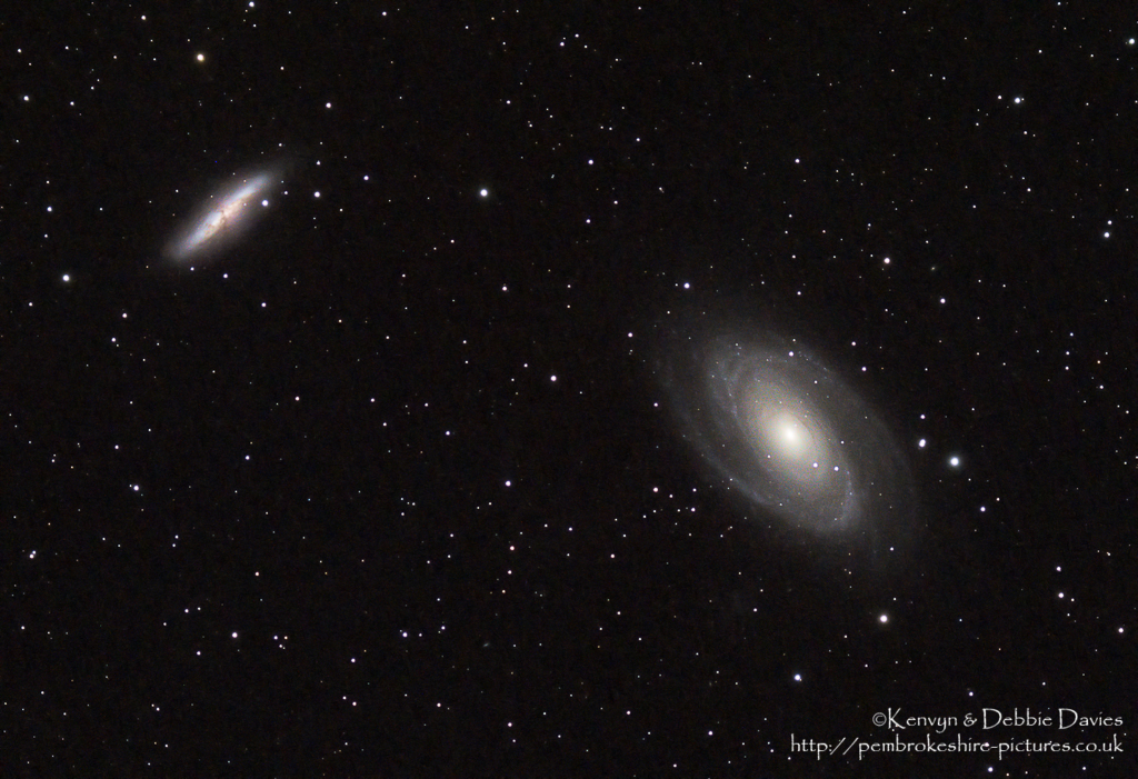 Bode's Galaxy (M81 / NGC 3031) and The Cigar Galaxy (M82 / NGC 3034)