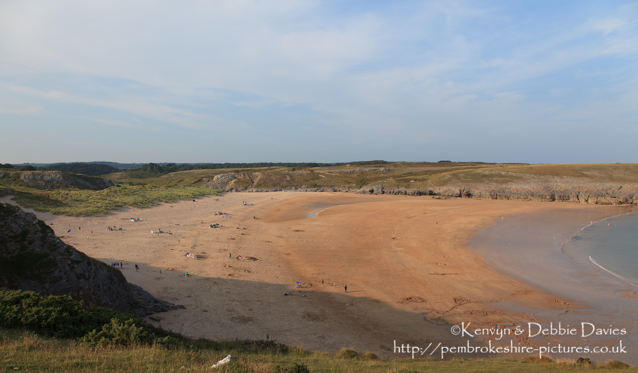 Broad Haven South, reached from Bosherston Lily Ponds in South Pembrokeshire.
