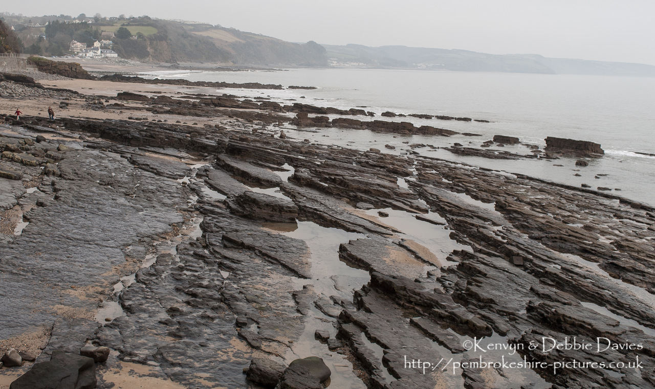"Pembrokshire's coast is world famous in geological circles for it's rock formations. The ""folding"" look was caused during the Variscan orogeny at the end of the Carboniferous period when the continents of Laurasia and Gondwana collided to form Pangea. At the time (c. 360Ma) Wales lay at the equator."