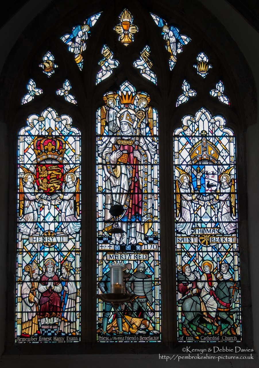 St Davids Cathedral, Interior Views, Stained Glass Window