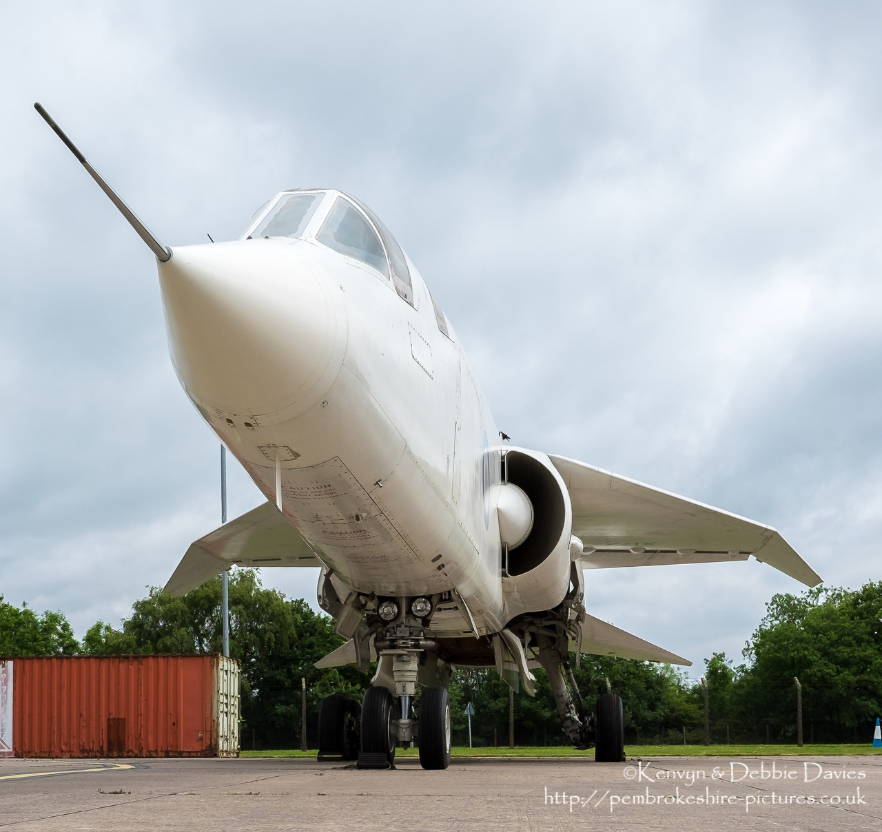 Designed in the early 60s, the first flight of the TSR 2 (Tactical Strike and Reconnaissance Mach 2) occurred in 1964. This is the second TSR 2 built (the first and only one that flew no longer exists).