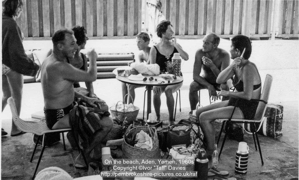 On the beach, Aden, Yemen, 1960s