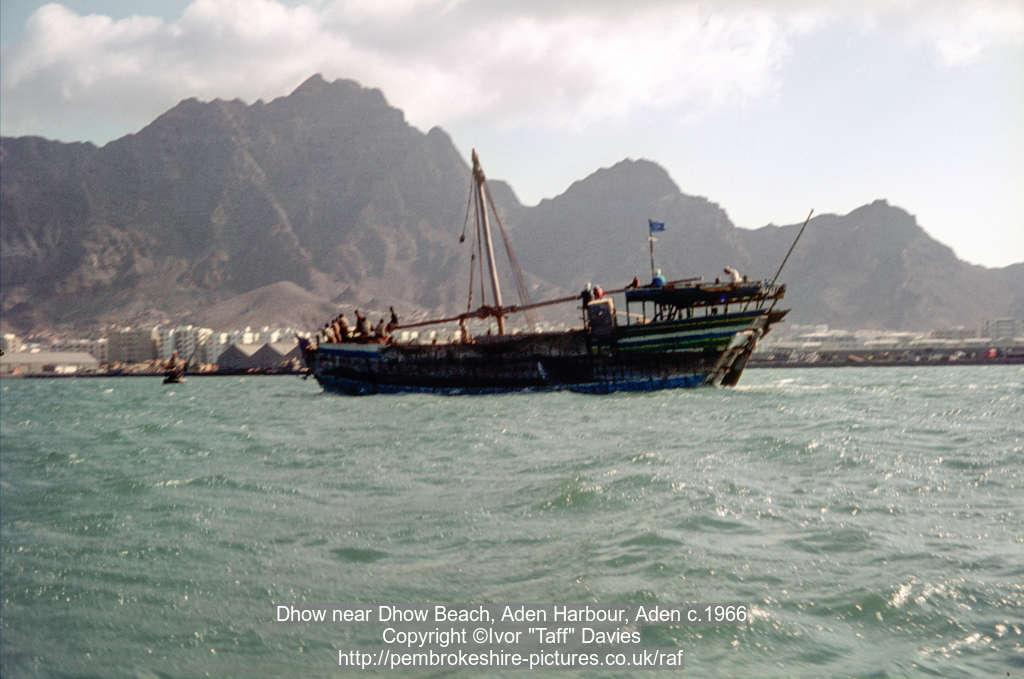 Dhow near Dhow Beach, Aden Harbour, Aden c.1966