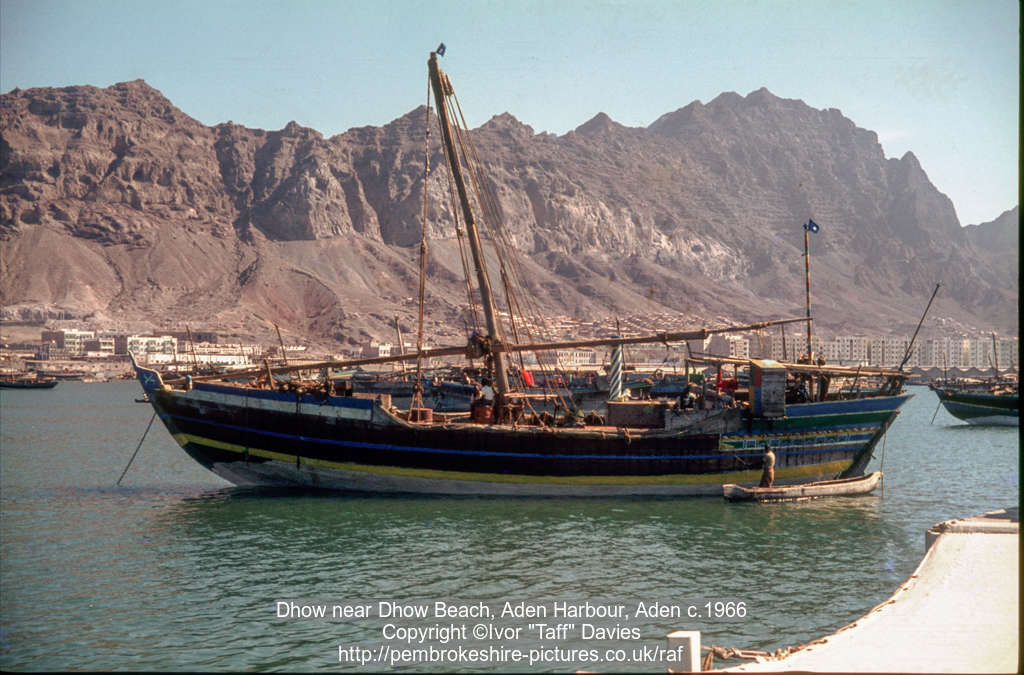 Dhow near Dhow Beach, Aden Harbour, Aden c.1966