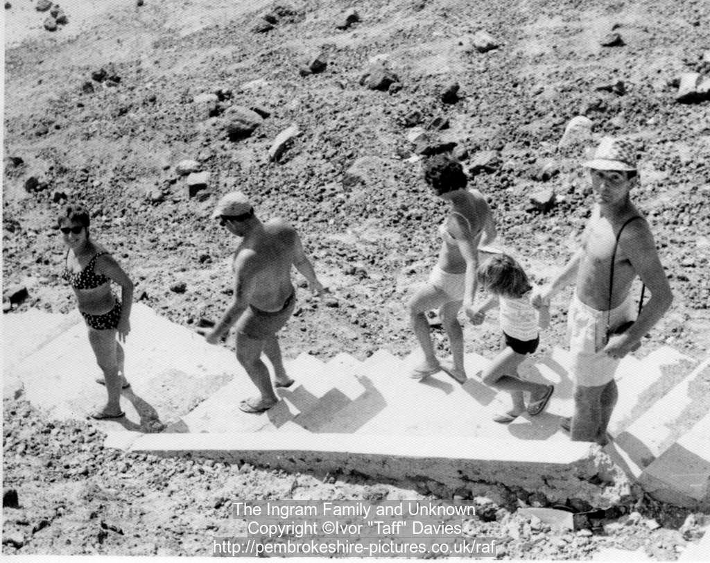 Anne Ingram, unknown, Mary, Mandy Ingram and Don Ingram, Aden circa 1966