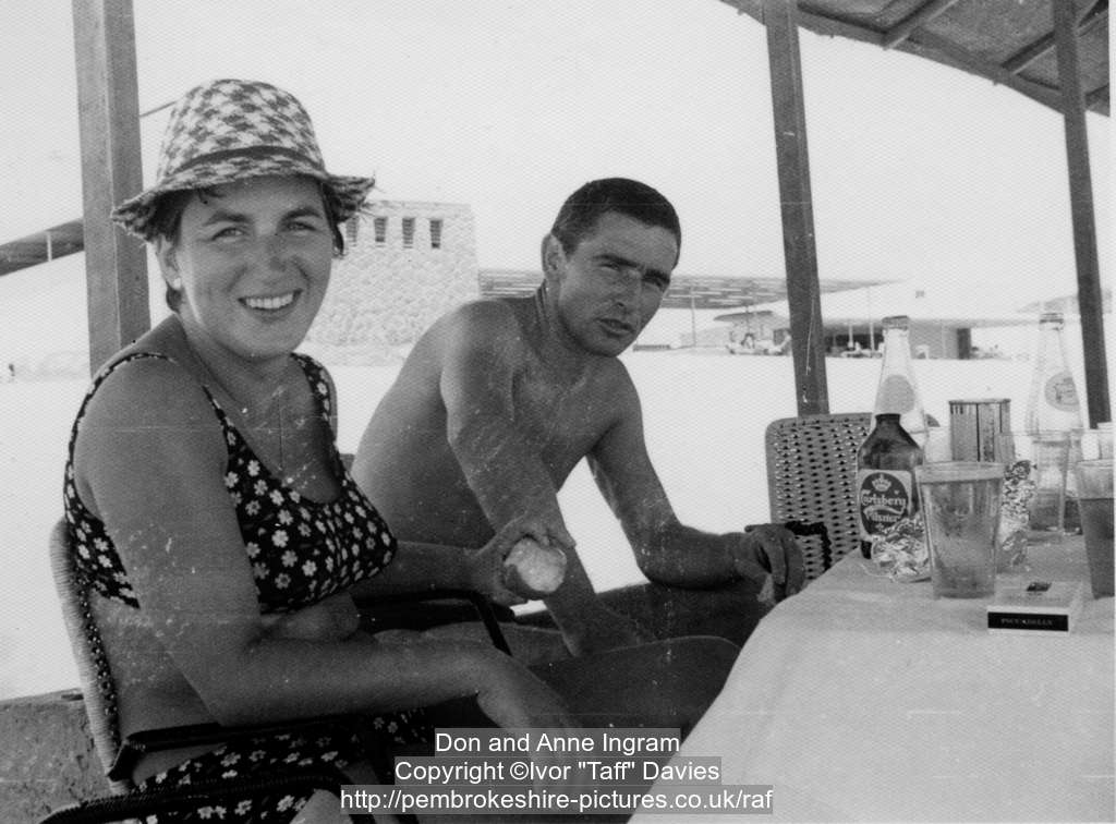 Don and Anne Ingram, Aden circa 1966
