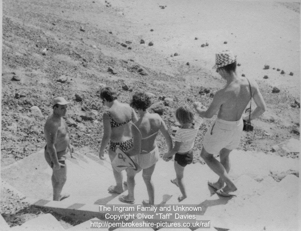 Don Ingram, Mandy Ingram, Mary, Anne Ingram and unknown, Aden circa 1966