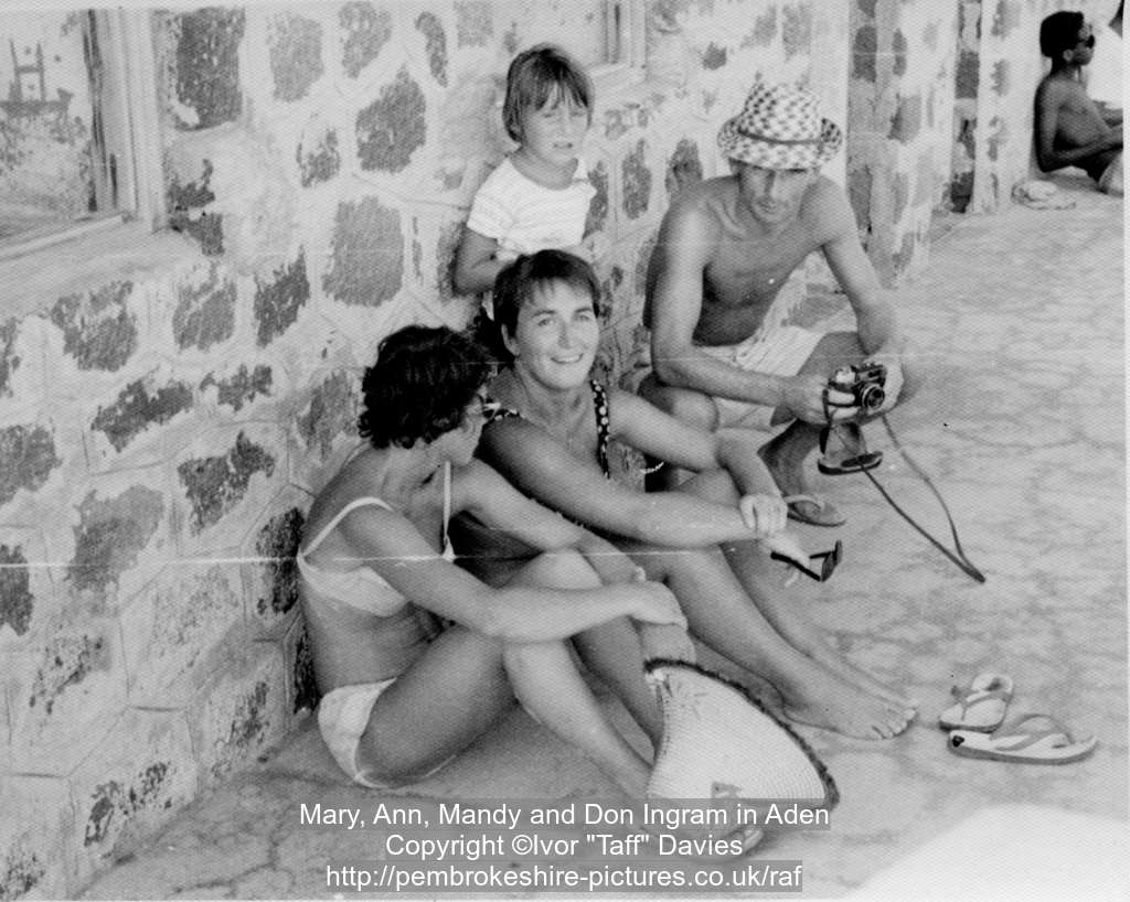 Mary, Ann, Mandy and Don Ingram in Aden