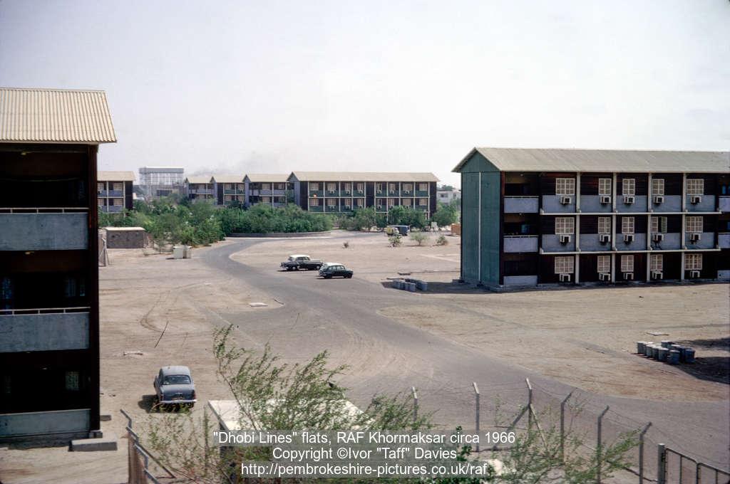"""""""Dhobi Lines"""" flats, RAF Khormaksar circa 1966"""