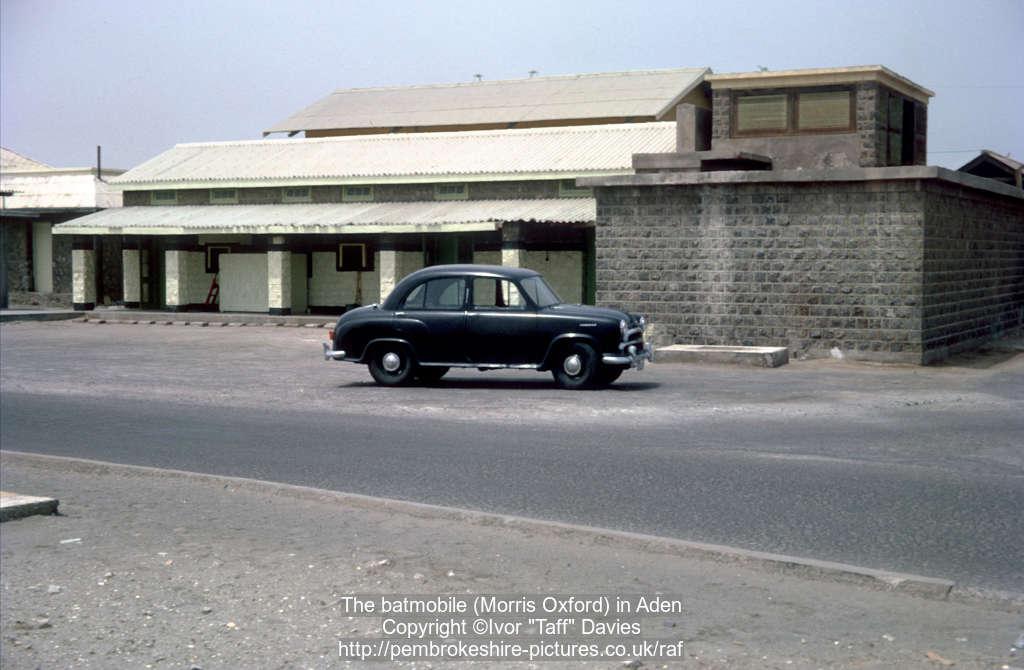 The batmobile (Morris Oxford) in Aden