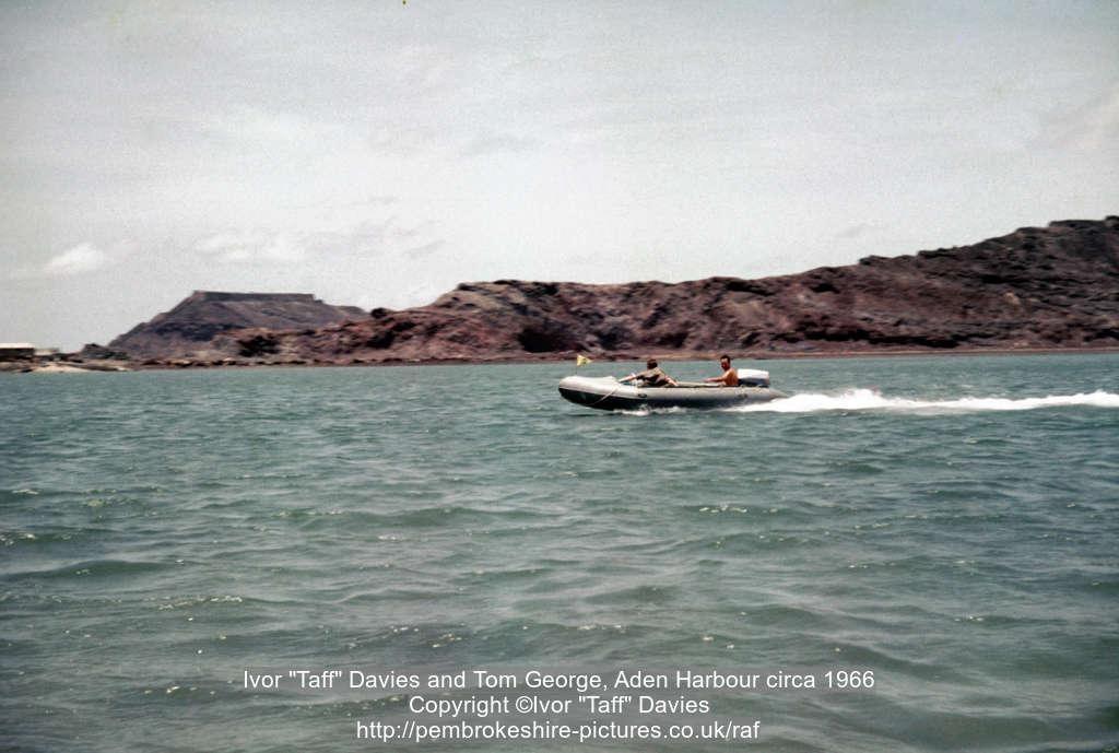 "Ivor ""Taff"" Davies and Tom George, Aden Harbour circa 1966"