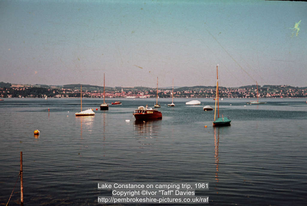 Lake Constance on camping trip, 1961