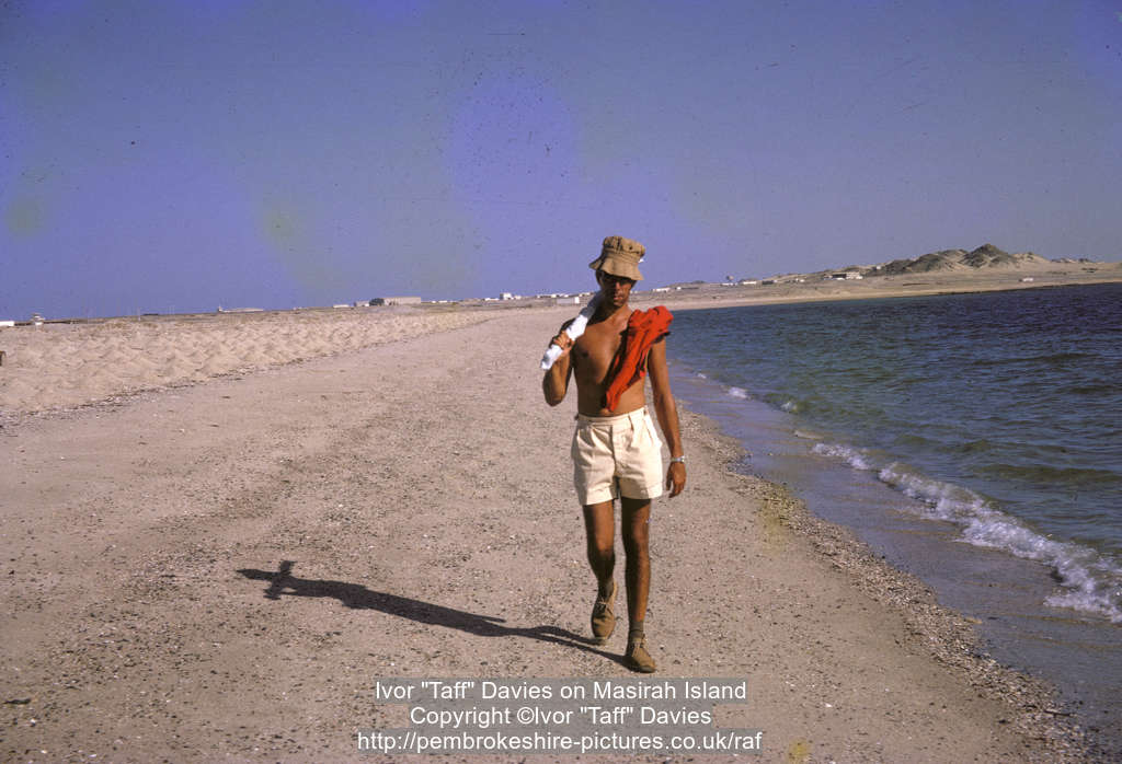 "Ivor ""Taff"" Davies on Masirah Island"