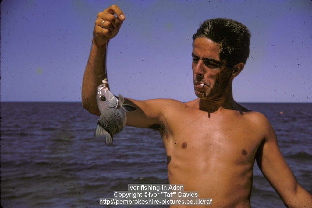 "Ivor ""Taff"" Davies, fishing