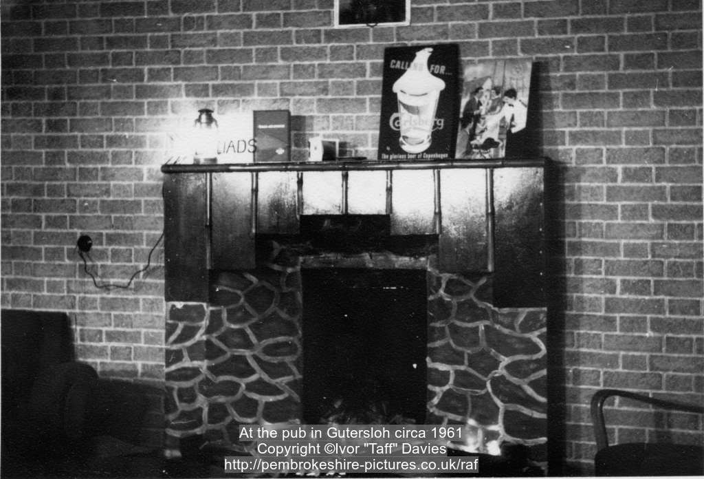 At the pub in Gütersloh circa 1961