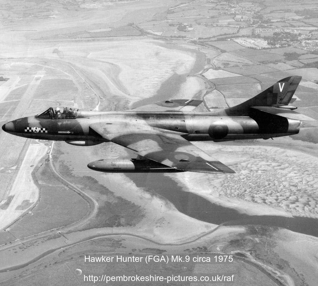 Hawker Hunter (FGA) Mk.9 circa 1975