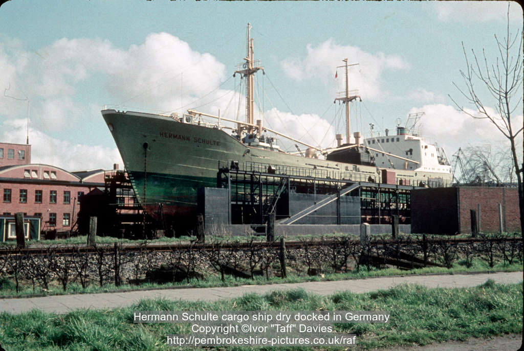 Hermann Schulte cargo ship dry docked in Germany