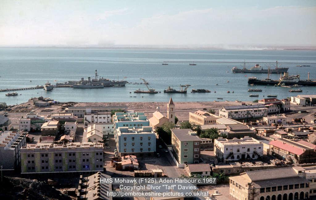 HMS Mohawk (F125), Steamer Point, Aden Harbour c.1967