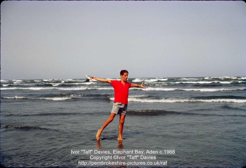 "Ivor ""Taff"" Davies, Elephant Bay, Aden c.1966"