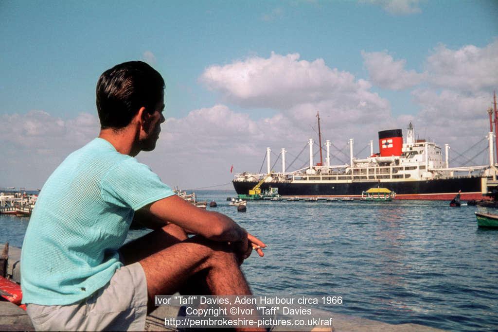 "Ivor ""Taff"" Davies, Aden Harbour circa 1966"