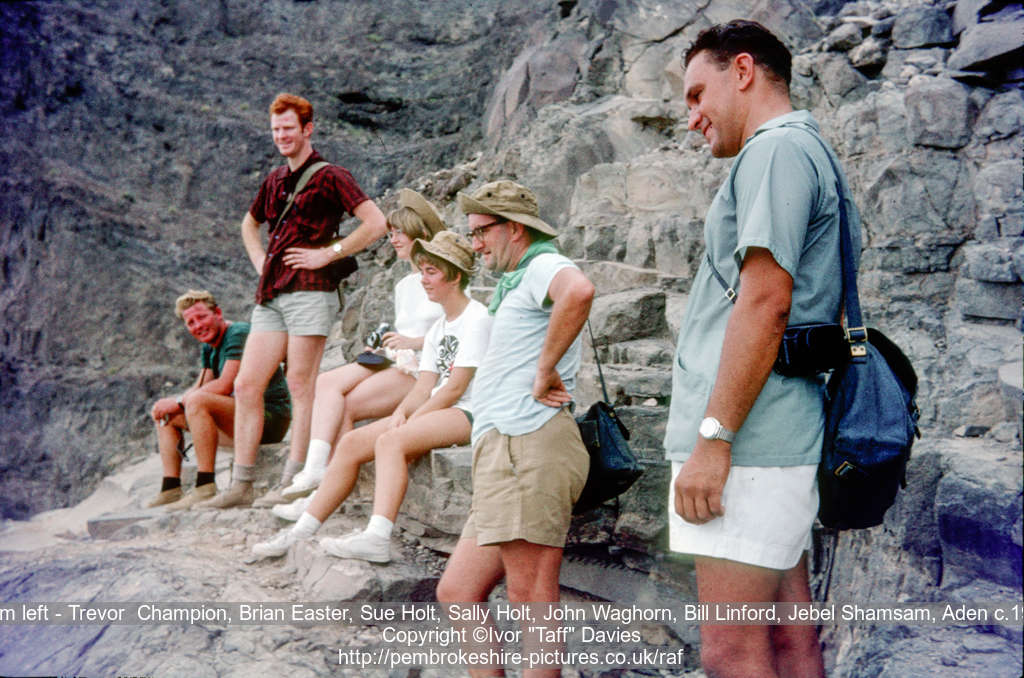 From left - Trevor  Champion, unknown, Sue Holt, 
