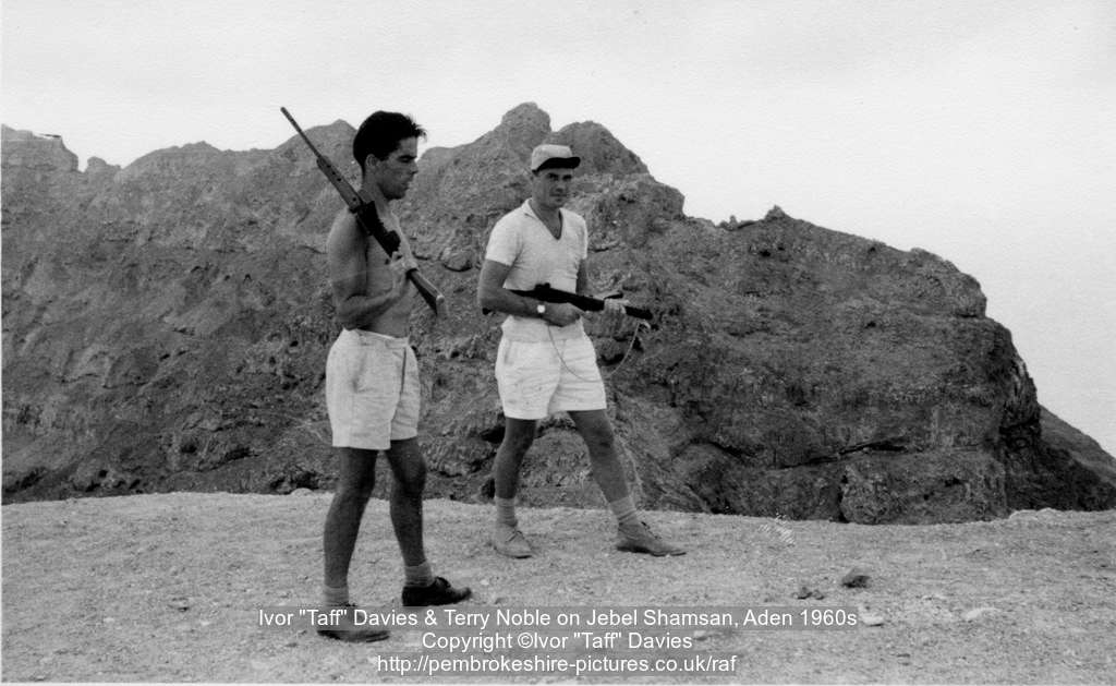"Ivor ""Taff"" Davies & Terry Noble on Jebel Shamsan, Aden 1960s"