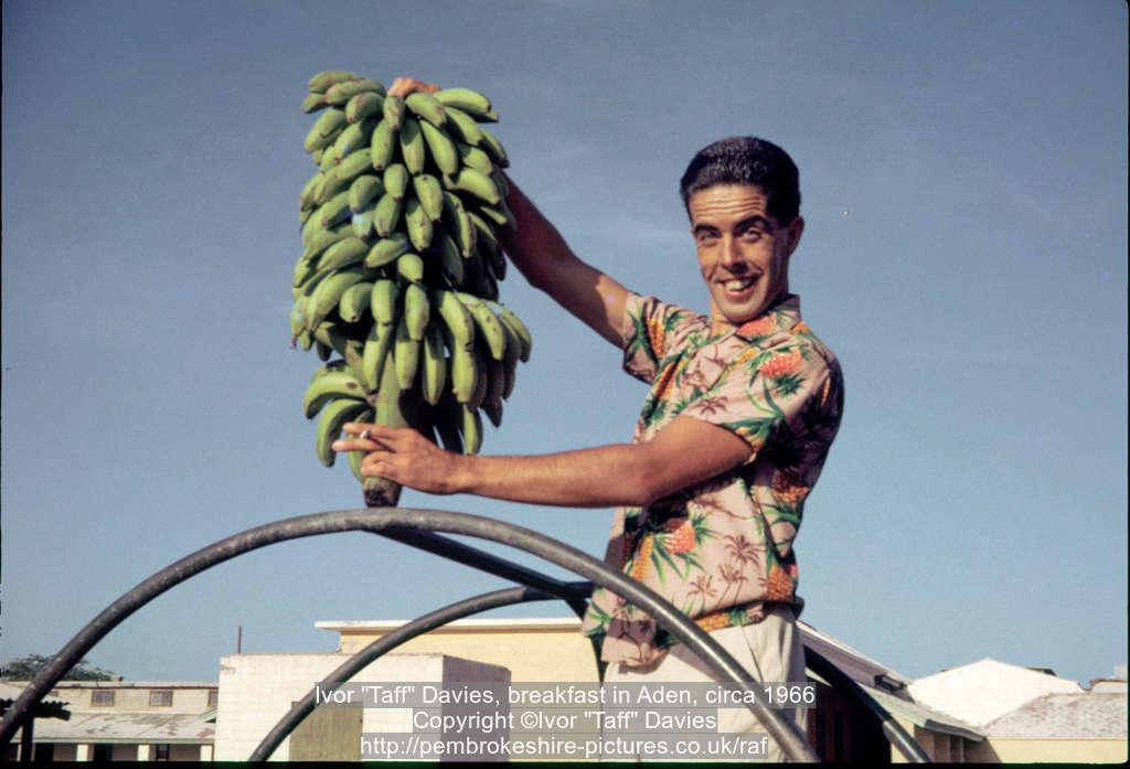"""Ivor """"Taff"""" Davies, breakfast in Aden, circa 1966"""