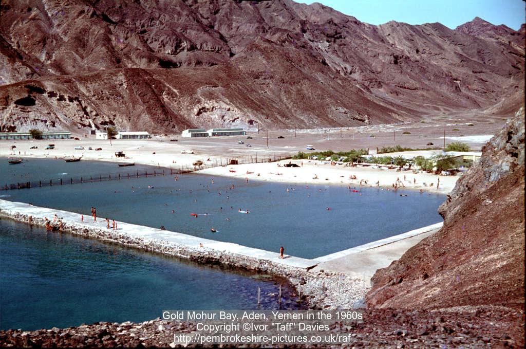Gold Mohur Bay, Aden, Yemen in the 1960s
