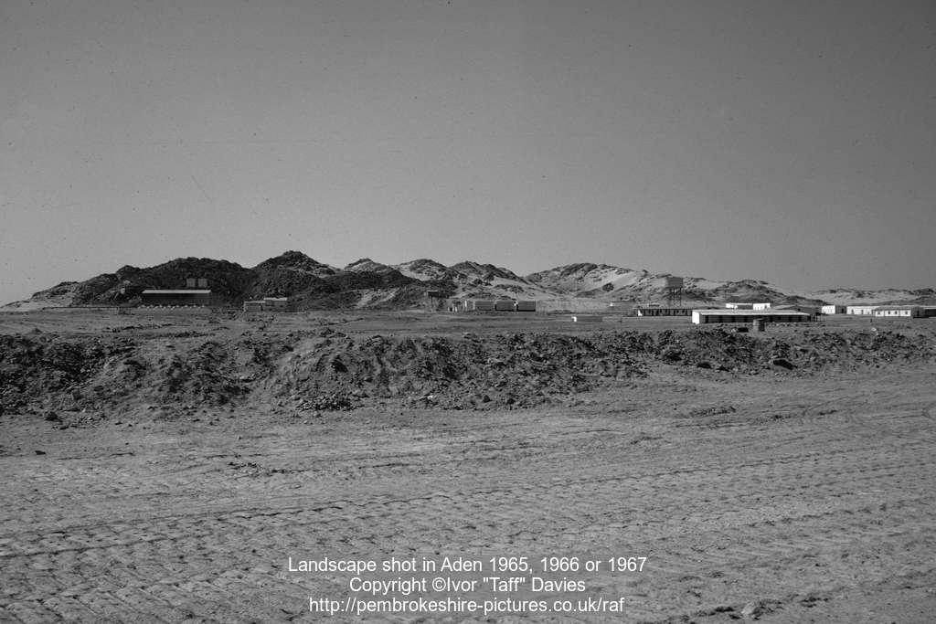 Landscape shot in Aden 1965, 1966 or 1967
