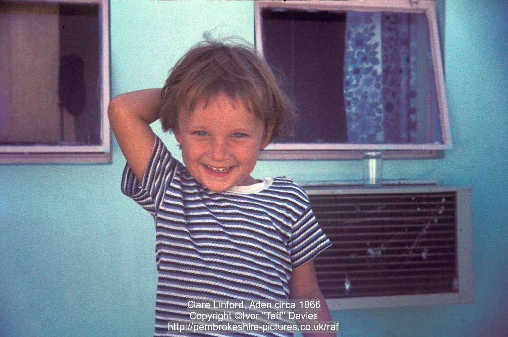 Clare Linford, Aden circa 1966