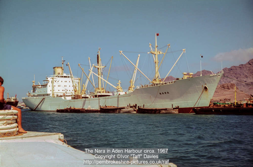The Nara in Aden Harbour circa. 1967