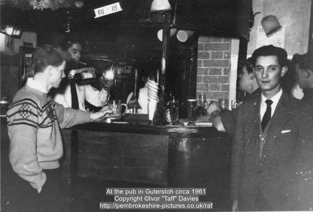 At the pub in Gütersloh circa 1961