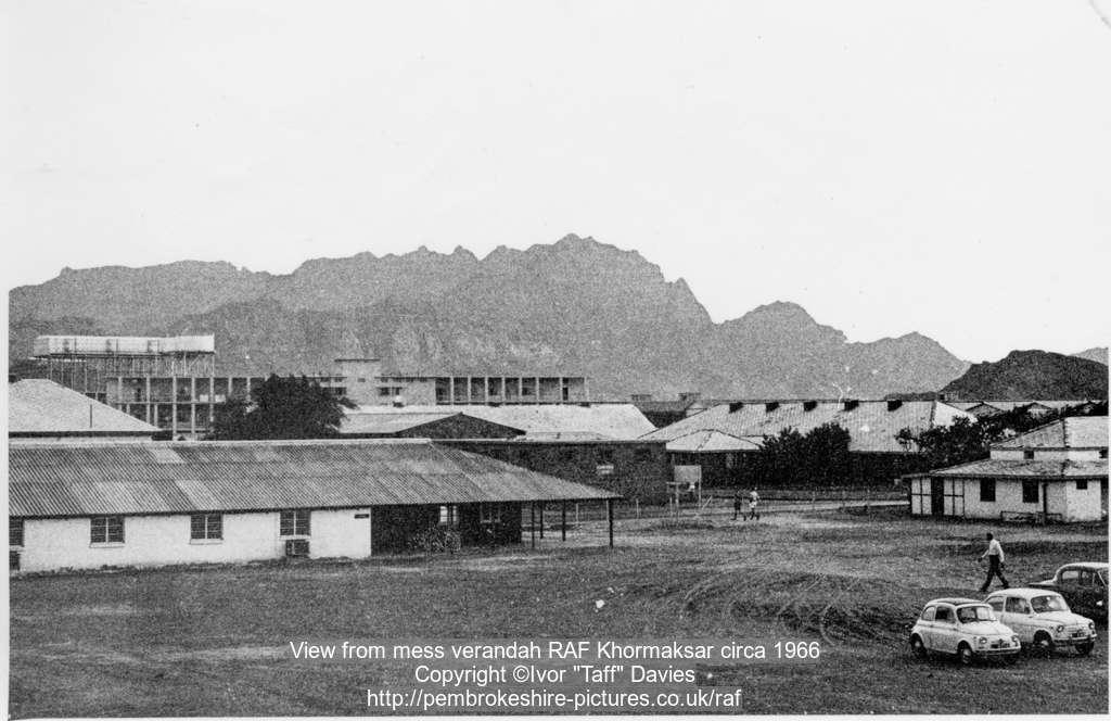 View from mess verandah RAF Khormaksar circa 1966