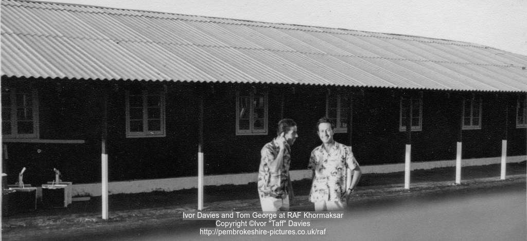 Ivor Davies and Tom George at RAF Khormaksar