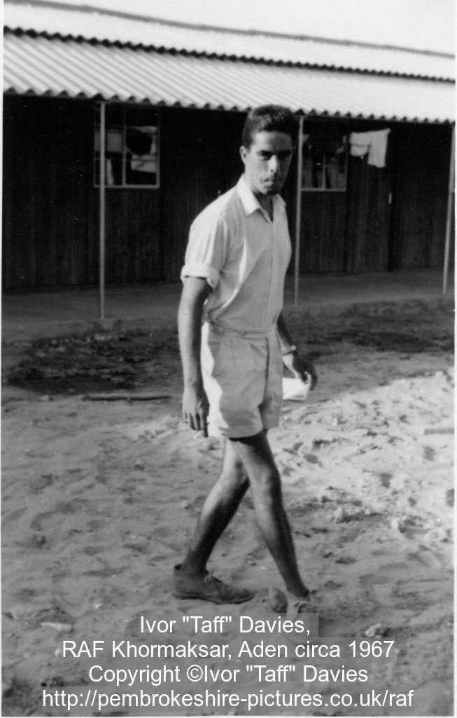 "Ivor ""Taff"" Davies, RAF Khormaksar, Aden circa 1967"