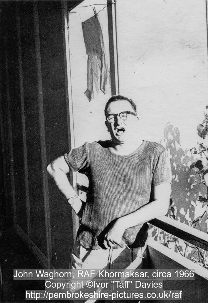 John Waghorn, RAF Khormaksar, circa 1966