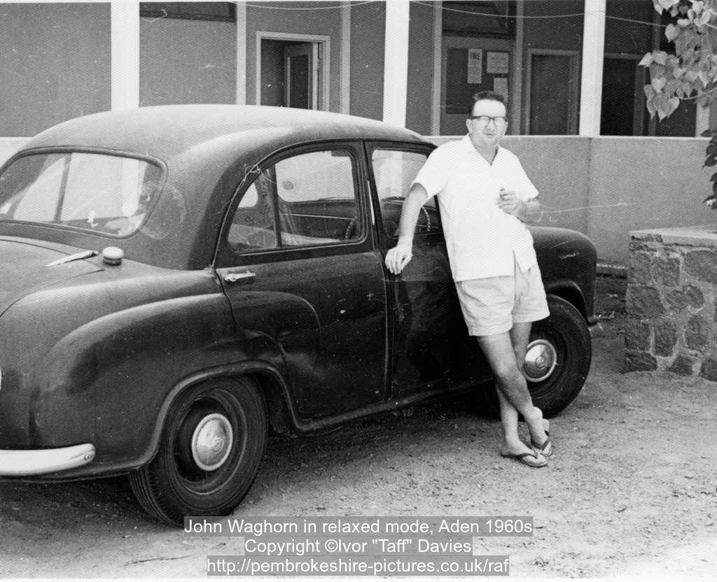 John Waghorn in relaxed mode, Aden 1960s