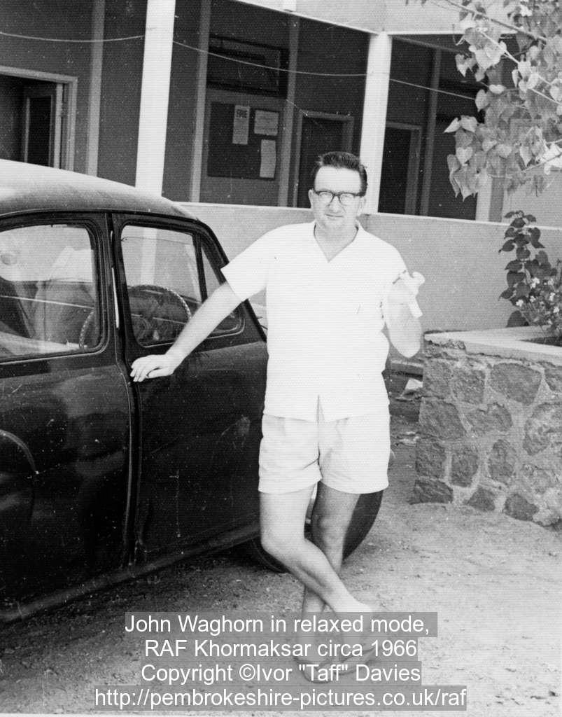 John Waghorn in relaxed mode, RAF Khormaksar circa 1966