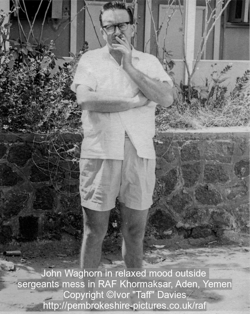 John Waghorn in relaxed mood outside 
