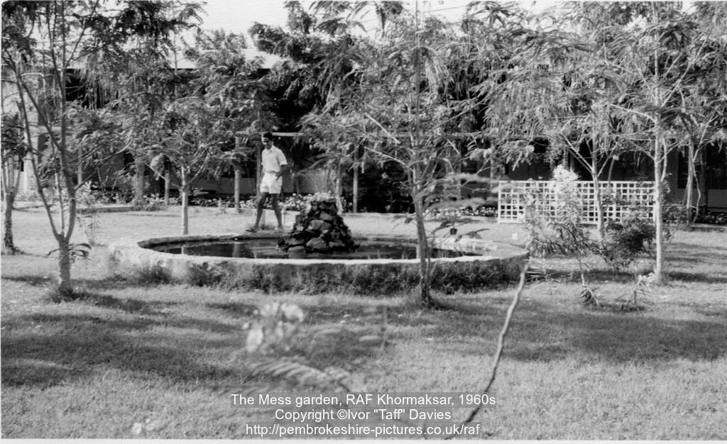 The Mess garden, RAF Khormaksar, 1960s